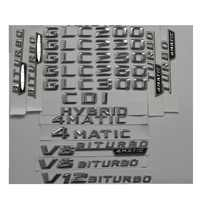 3D Chrome Stamm Buchstaben Abzeichen Abzeichen Emblem Embleme für Mercedes Benz R172 SLC180 SLC200 SLC300 SLC250 SLC43 4 MATIC CDI AMG