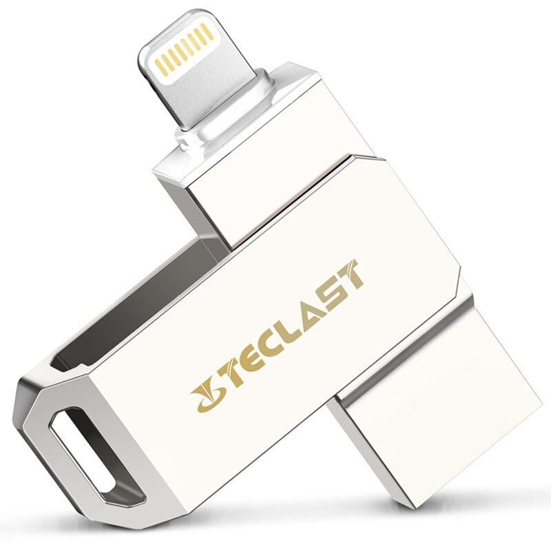 High Speed Teclast 64GB USB Disk Dual Plug USB Flash Drive 32GB for iPhone iPad IOS7.0 USB 3.0 Pen Drive 64 GB U Disk for MAC PC