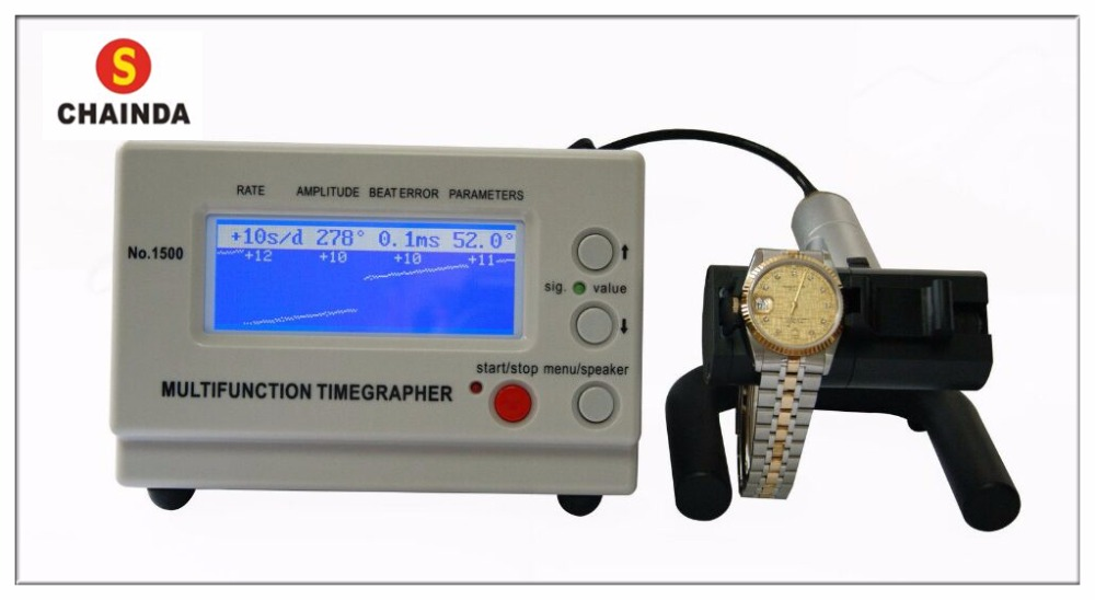 Free Shipping 1PC Mechanical watch timing tester Timegrapher Multifunction Timing Machine MTG-1500 цена