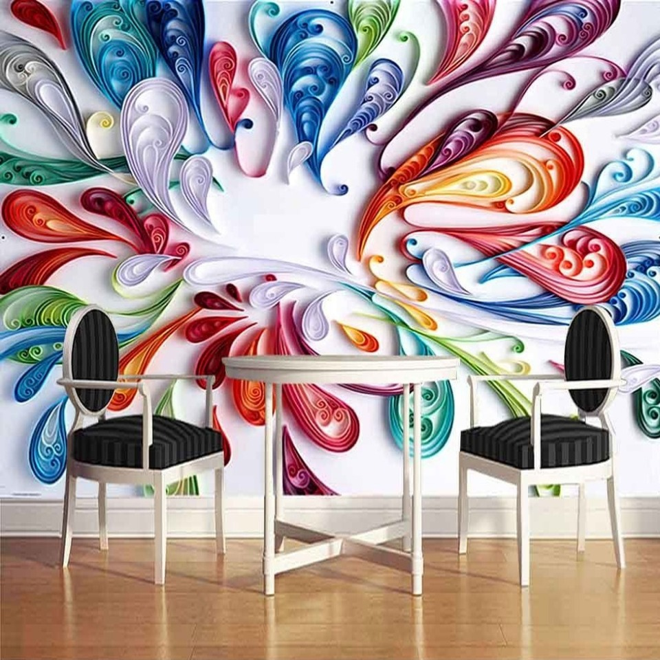 US $8 59 OFF Custom Mural Wallpaper High Quality Modern Fashion Simple 3D Stereoscopic Graffiti Art Wall Painting Murals Papel Pintado Pared Mural