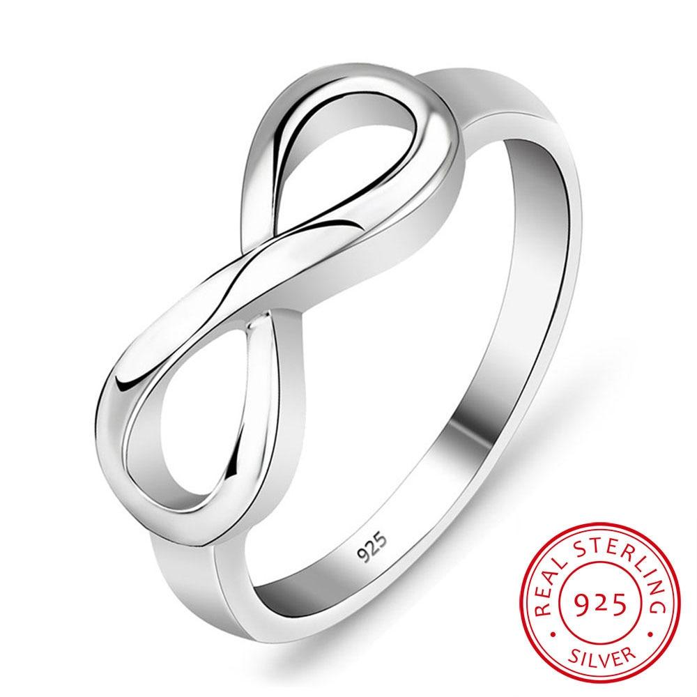 925 סטרלינג כסף אינפיניטי טבעת אישית או הלא מותאמת נצח טבעת אהבה אינסופית מתנה טבעות לנשים (RI101995)