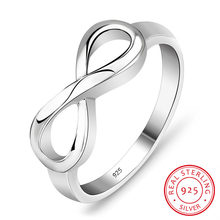 925 Sterling Silver Infinity Ring Personalized or Non Customized Eternity Ring Endless Love Gift Rings for Women (RI101995)(China)