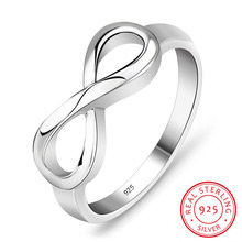 Plata de Ley 925 anillo infinito personalizada o no personalizada eternidad anillo interminable amor regalo anillos para las mujeres (RI101995)