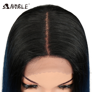 """Image 4 - Noble Hair 20""""Inch Synthetic Lace Front Wig For Black Women Heat Resistant Straigtht Hair African American Braided Wig For Women"""