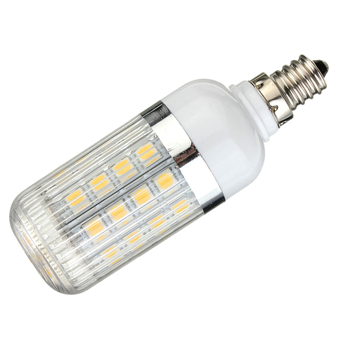E12 5W Dimmable 36 SMD 5050 LED Corn Light Bulb Lamp Color Temperature:Warm White(3000-3500K) Amount:8 Pcs new corn bulb e27 9 11 12 14w 220v pure warm white smd 5050 44 52 60 64 led spot light bulb lamp flat tube