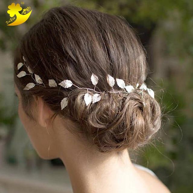 Xinyun Wedding Headbands Bridal Ornaments Beautiful Leaves Headbands Fashion Women Hair Band Simple Elegant Bride Accessories