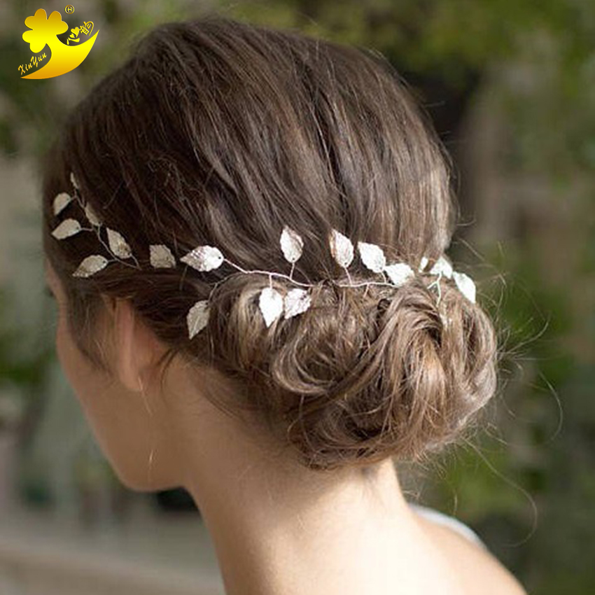 Xinyun Wedding Headbands Bridal Ornaments Beautiful Leaves Headbands Fashion Women Hair Band Simple Elegant Bride Accessories