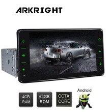 ARKRIGHT 6,2 «1din 4 + 64 Гб Авто Радио Android 8,1 Универсальный Автомобильный gps Carplay Wi Fi головное устройство мультимедиа плеера DSP