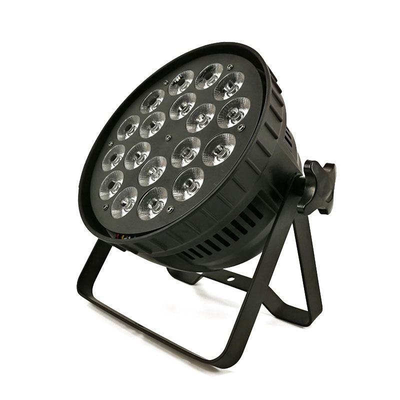8pcs/lot LED Par 18x12W RGBW 4in1 Quad LED Par Can Par led spotlight dj projector Wash Lighting Stage Uplighting Fast Shipping free shipping 6pcs lot concert stage 6 in 1 zoom wash led par can 18x18w led par ip25 rgbw led wash with zoom