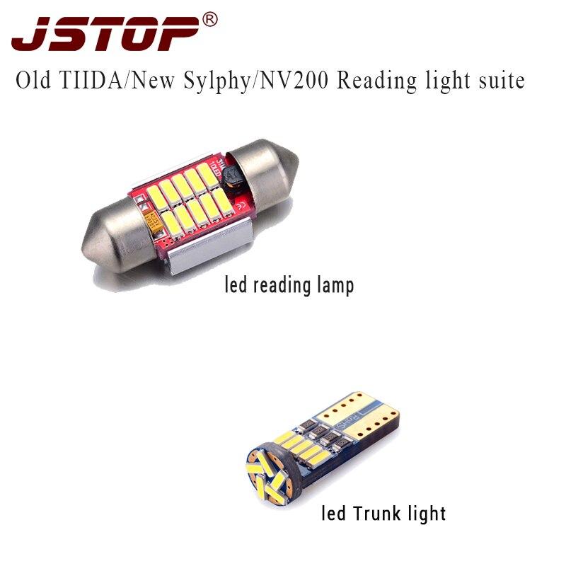 JSTOP 2ks / set starý TIIDA NOVÝ SYLPHY NV200 autosvětlo W5W T10 12VAC lampa vedená canbus 31mm festoon Light