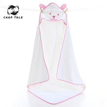 New children's cute cartoon hooded cloak bath towel animal cartoon microfiber baby boy girl child swimming bath towel 90x90cm цены