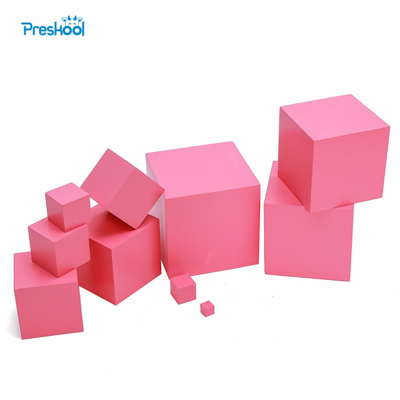 Montessori Pink Tower Beech Wood without Stand 1 cm to 10 cm Early Childhood Education Preschool Kids Toys Brinquedos Juguetes baby toy montessori baric weight tablets with box early childhood education preschool training kids brinquedos juguetes