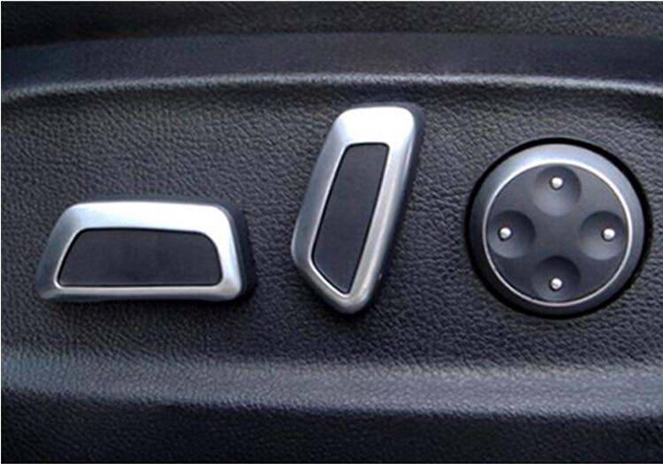 Car styling Seat Pokrętło regulowane 6 sztuk Czarny Matowy Chrom Dla AUDI Q5 A4L A6L C7 A7 vw Volkswagen Tiguan CC Passat B7