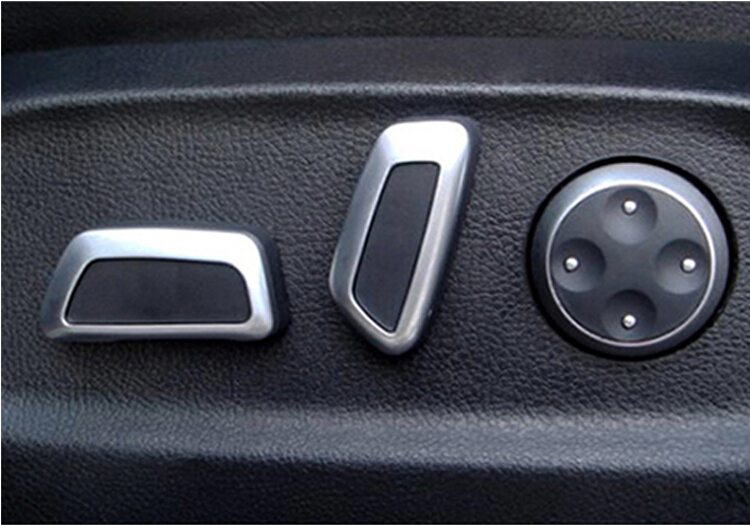 Car styling Sedile Regolabile Manopola Interruttore 6 pz Nero Opaco Cromo Per AUDI Q5 A4L A6L C7 A7 vw Volkswagen Tiguan CC Passat B7