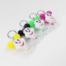 2pcs Disney LED flash Mickey mouse plush Keychain Light Creative Cartoon Light Keychain bag Pendant souvenir Gift children toy