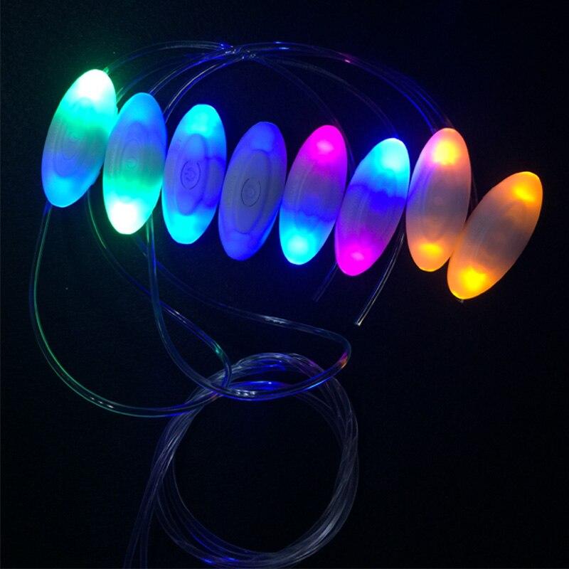 30 пар/лот разноцветные светодиодные шнурки 3 режима светодиодный проблесковый маячок stick ремень обуви строки Дискотека ночной спортивные ш…