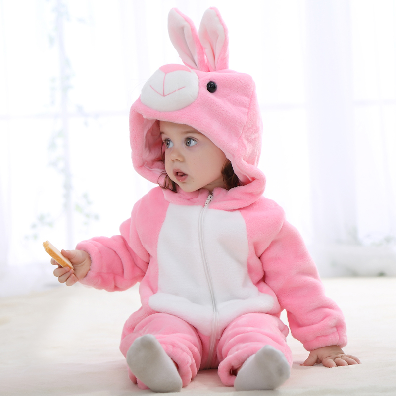 135206a47 2017 Cute Baby Clothes Spring Autumn Animal Jumpsuit Coral Fleece ...