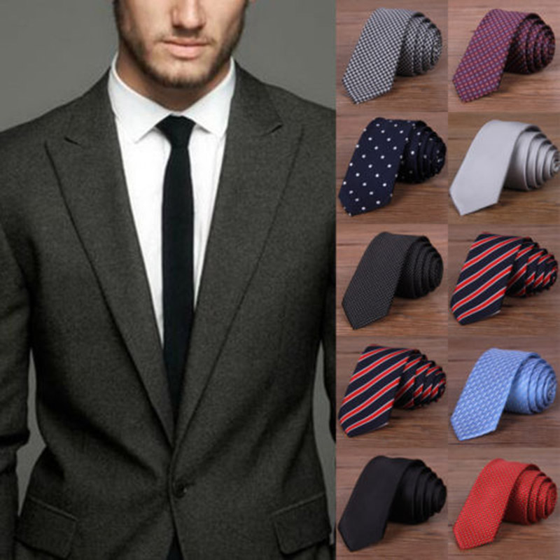 Hot New 2019 Fashion Male Brand Slim Designer Knitted Neck Ties Cravate Narrow Men Neckties Tie For Men Shirt Tie Skinny W1