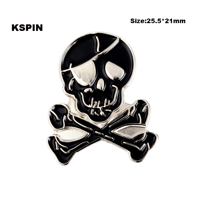 Home & Garden Apparel Sewing & Fabric Cheap Price Skull Ribbon Bow Lapel Pin Badge Pin