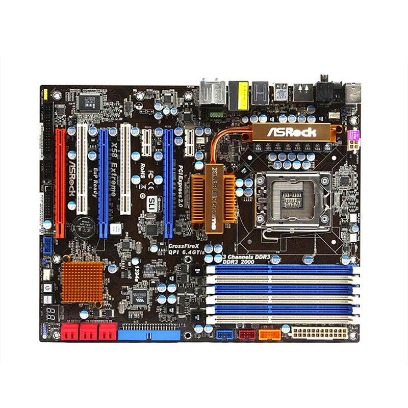LGA 1366 For Intel Motherboard for ASRock X58 Extreme DDR3 24GB SATA II X58A UD3R Desktop