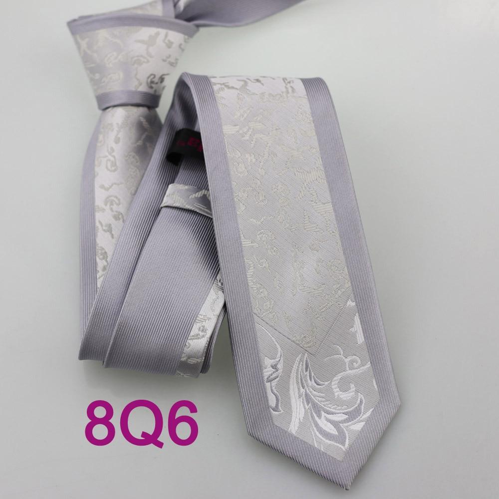 Yibei Coachella Галстуки серый галстук узкий граничит с White Silver Товары для птиц Животные шеи Галстуки Повседневные платья микрофибры corbatas тонкий