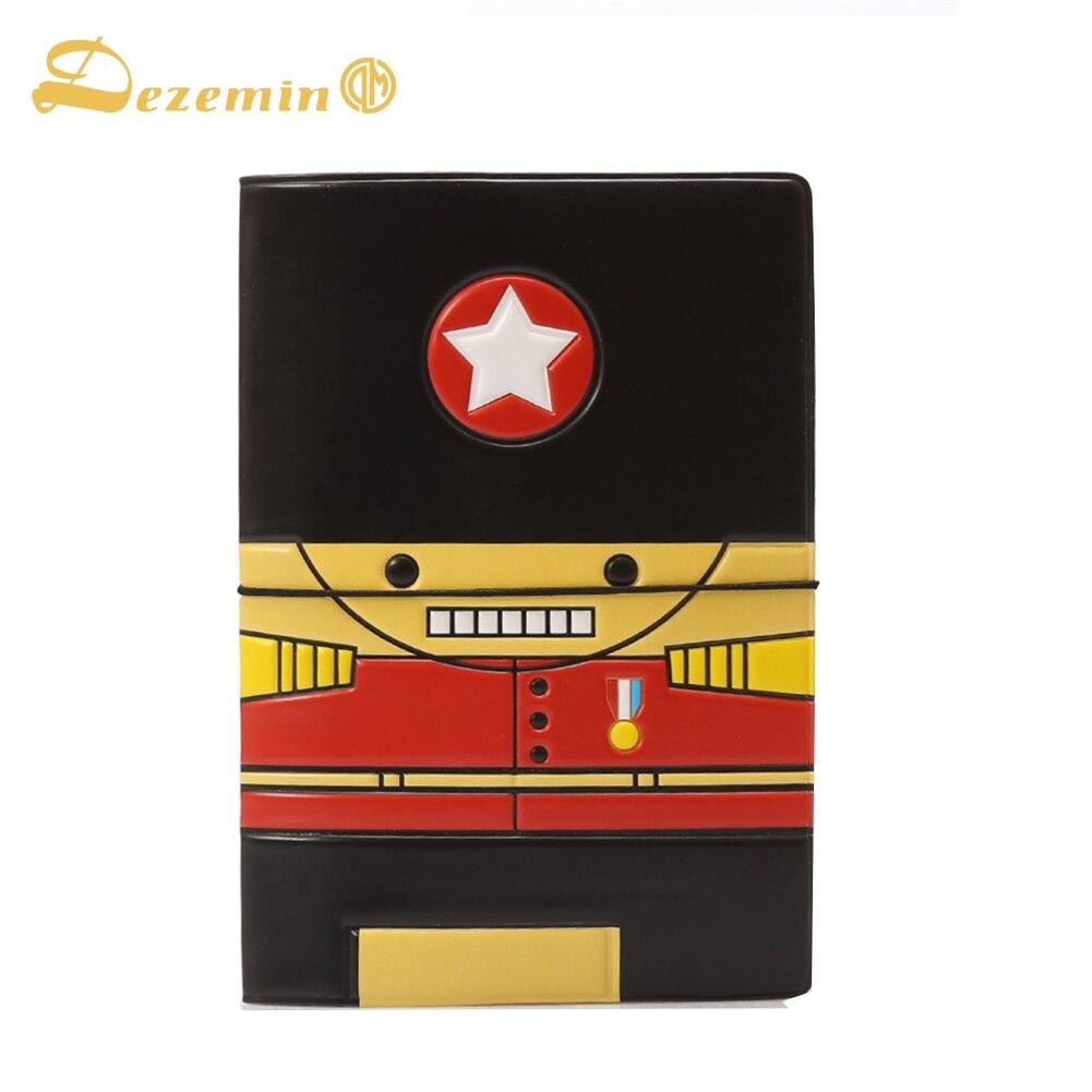 Dezemin солдат Обложка для паспорта мило путешествия аксессуары кредитной держатель для карт