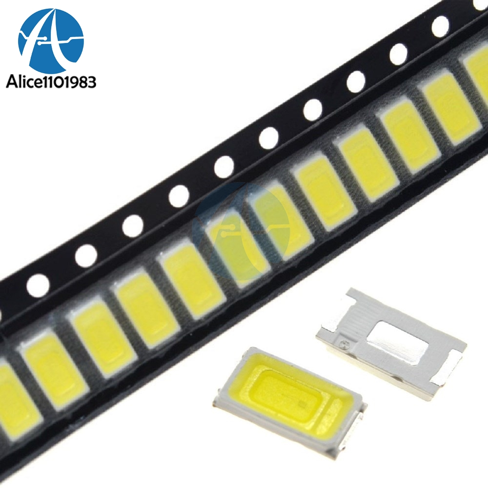 100pcs White Light  5730 5630 CW WW 0.5W-150Ma 50-55lm 6500K SMD 5730 5630 LED 5730 Diodes 3.2V~3.4V(China)