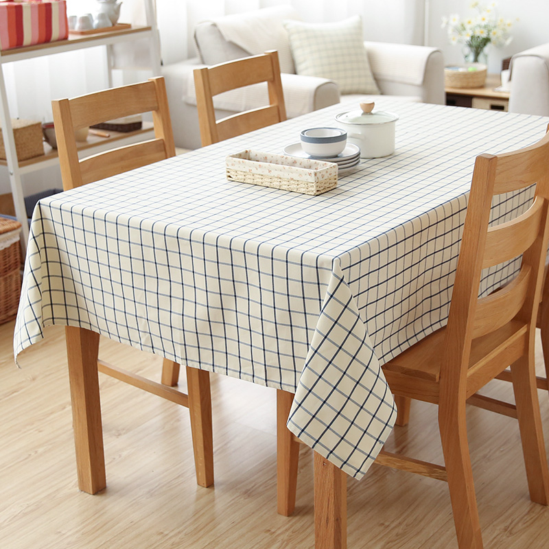 Cloth Checkered Tablecloth Environmental Protection Modern Minimalist Side Cabinets Desk Table Cloth Party Picnic Decoration