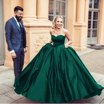 vinca sunny New Sexy navy blue sweetheart ball gowns satin wedding dresses 2019 Bridal Gown Vestido de Noiva
