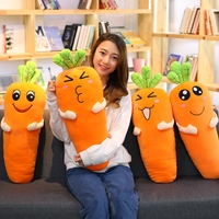 1pc 75cm Cretive Simulation Plant Plush Toy Stuffed Carrot Super Soft Pillow with Blanket Intimate Xmas Gift For Girl Lovers