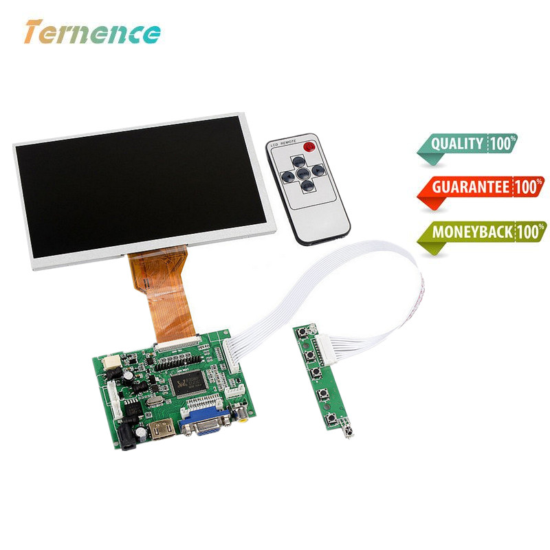 Skylarpu for 9''Inches Raspberry Pi LCD Display Screen TFT Monitor AT090TN12 LCD with HDMI VGA Input Driver Board Controller m nt68676 2a universal hdmi vga dvi audio lcd controller board for 14inch 1600x900 b140rw01 led monitor kit for raspberry pi