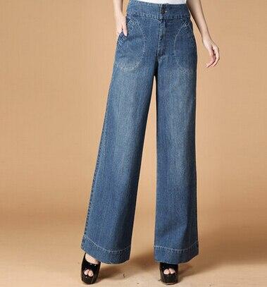 100% algodón Pantalón ancho pantalones para las mujeres otoño primavera  Mediados de cintura capris pantalones casuales de mezclilla pantalones  femeninos ... 469d41f27450