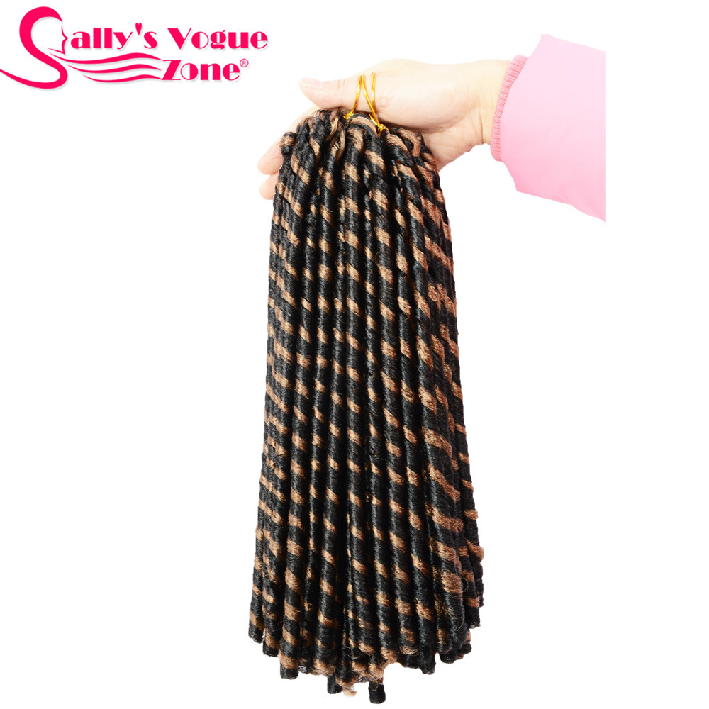 24 Roots Faux LocsCrochet Hair 18 Crochet Faux Lock Dreadlock Crochet Braids hair Extensions Synthetic Braiding hair Soft lock (166)