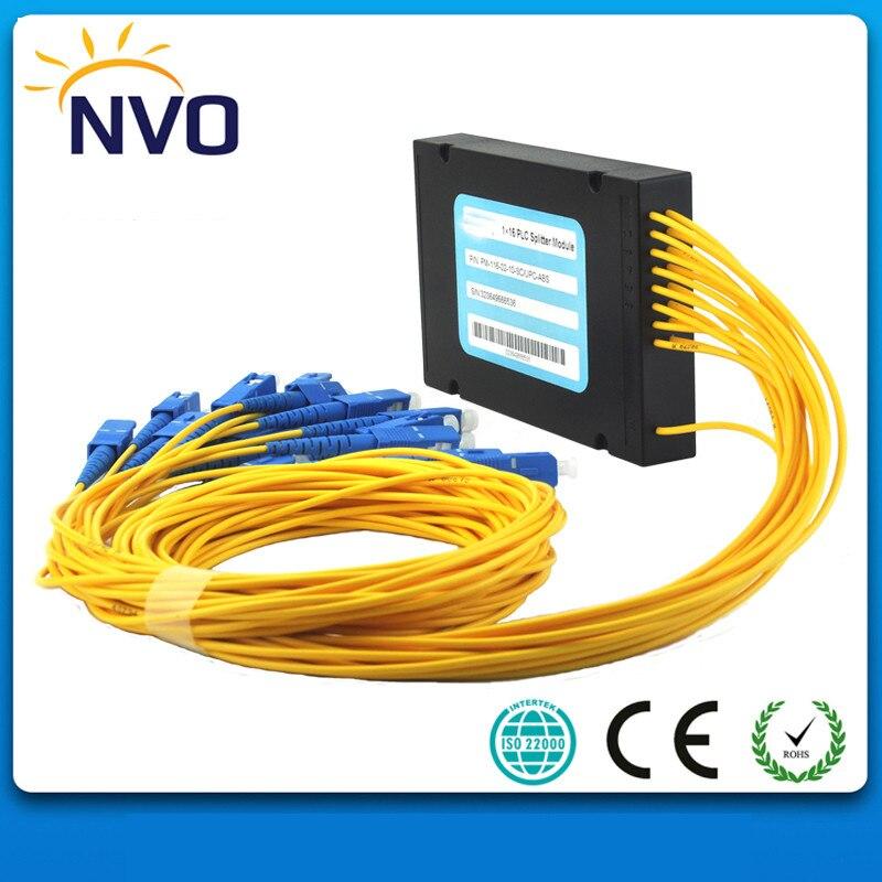 Livraison Gratuite Système GPON 1X32 PLC Fiber Optique Splitter avec SC/UPC Connecteurs