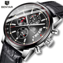 BENYAR 2019 Mens Watch Business Watches Top Brand Luxury Quartz Waterproof Male Wristwatch Relogio Masculino