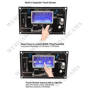 Image 2 - Czarny tekst pokaż LCD pojemnościowy ekran dotykowy pilot zdalnego SD MP3 odtwarzacz IR moduł kontrolera USB WMA WVA FLAC LRC Bluetooth radio