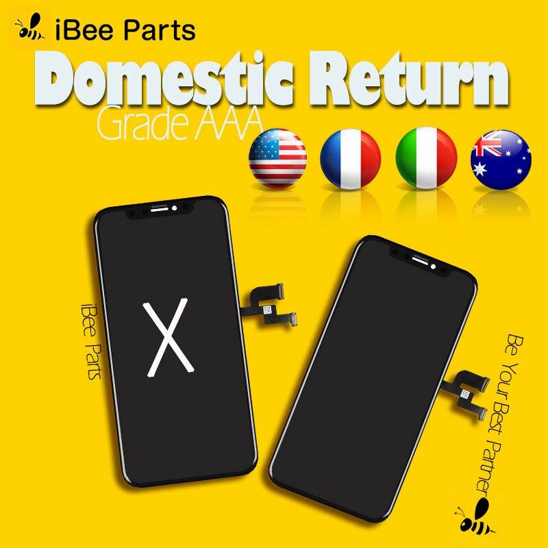 IBee Teile 2 stücke Grade AAA Top Qualität Für iPhone X OLED AMOLED LCD Glas Touch Screen Ersatz Kalte rahmen