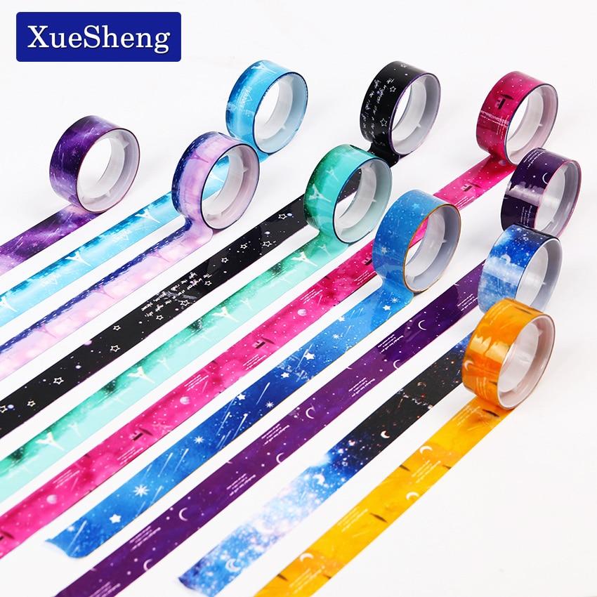 10 pcs/lot Starry Sky Washi Pvc Roll DIY Decor Scrapbooking Sticker Masking Tape Adhesive
