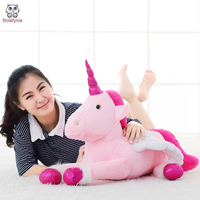 BOLAFINIA children plush toys Pink unicorn doll cute horse baby kids for Christmas birthday stuffed toy gift