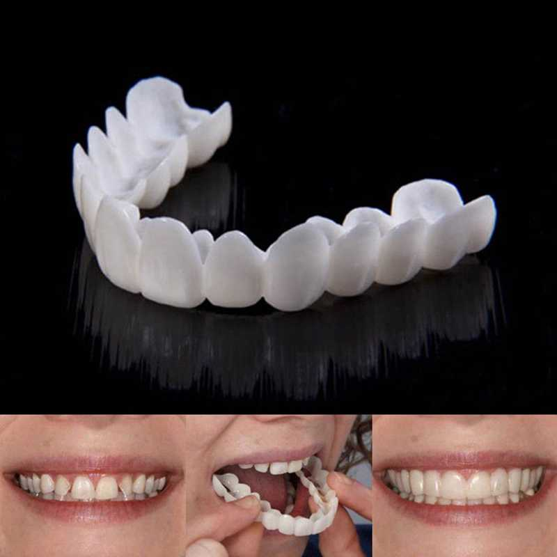 Cosmetic Tooth Cover Natural False Teeth Fake Tooth Upper Dental Smile