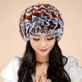 High Quality 2016 new autumn and winter fur hat lady Rex wool knit wool cap warm winter Free Shipping 1colorTM14