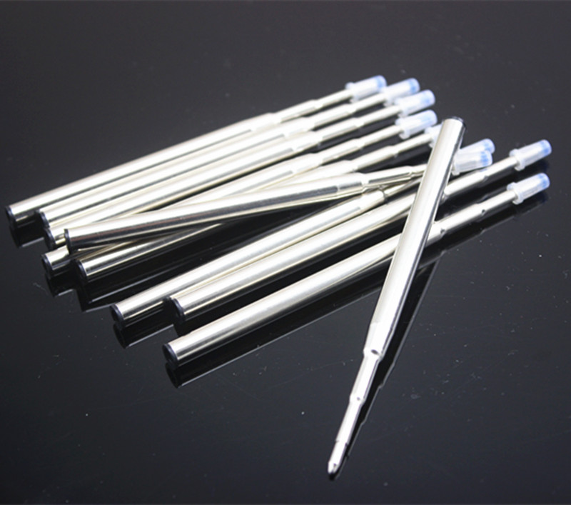 10 Pcs/Lot Blue/black Metal Ballpoint Pen Refills For Mb Ball Pen Stationery Office Writing Ink Refill Accessories