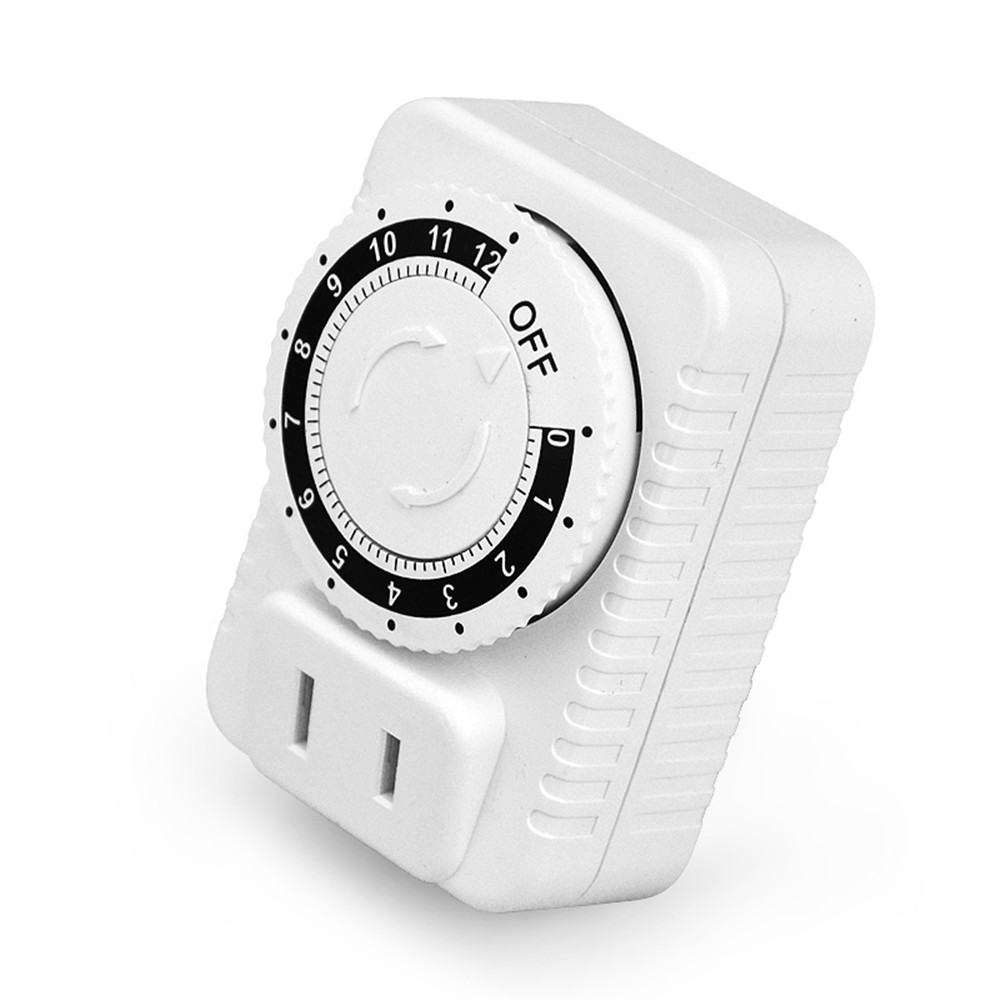 High power quality pump motor timer switch timer socket 12 minutes to 12 hours 110~250V 10A mechanical time switch free shipping