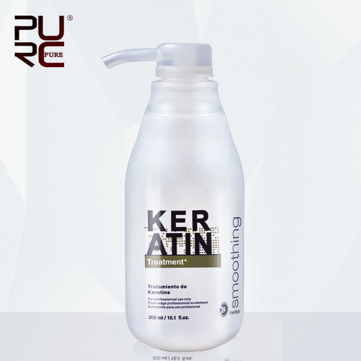 PURC Brazilian Keratin Treatment straightening hair 5%formalin Eliminate frizz and have shiny hair treatment free gift agran oil 1
