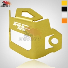 For KTM RC 125 Motorcycle CNC Rear Brake Fluid Reservoir Guard Cover Protect rc