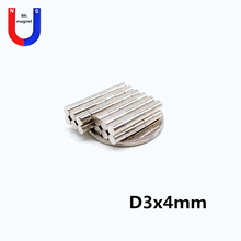 2000pcs 3x4 magnet 3mmx4mm high-strength rare earth permanent magnet 3*4 Super strong neymium magnets 3mm*4mm rare earth high purity scandium chloride sccl3 xh2o