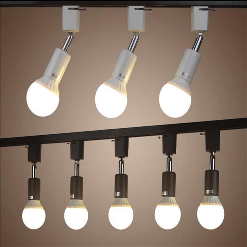 Modern E27 Holder Track Light Lamp Rotated Track Lighting