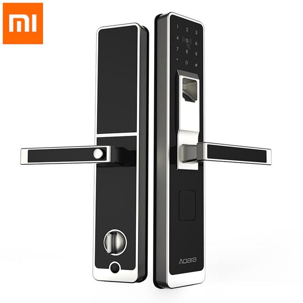 Original Xiao mi Aqara serrure intelligente mi porte tactile serrure électronique en direct empreinte digitale déverrouiller mot de passe App contrôle pour la sécurité à la maison