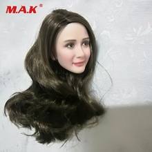 12 Female Figure Custom Head Sculpt 1/6 Asian Girl Black Long Hair Model Toys for 12'' Action Figure Body Accessory 1 6 scale asian beauty girl lingling head w black long straight hair for 12 action figure accessory collection doll toys gift