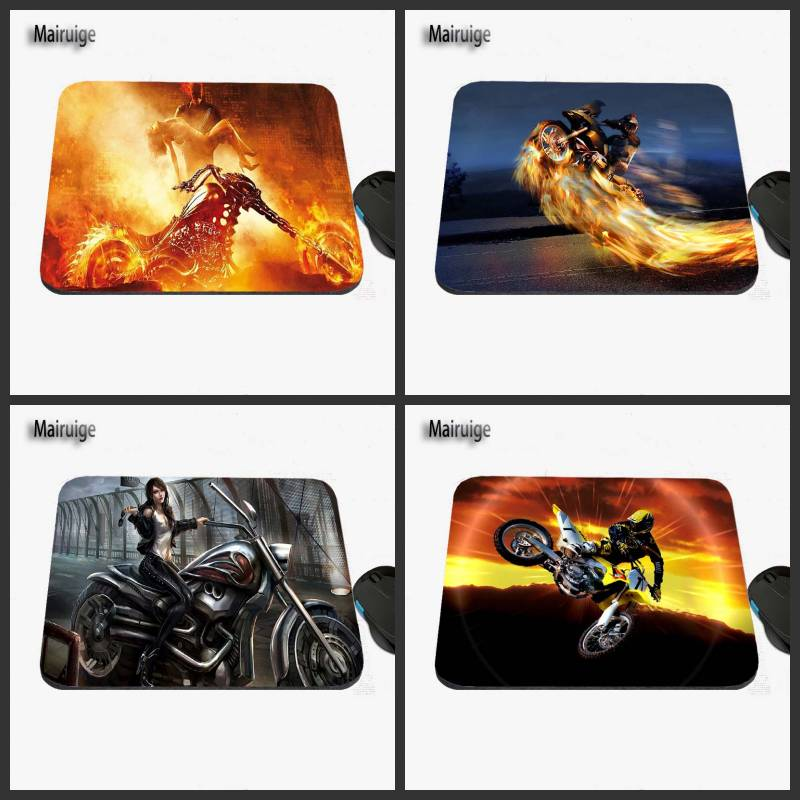 Cool Motorcycle Racer's Stunt Show Custom Printed Design For A Sliding Rectangular Rubber Laptop Computer Game Mouse Pad